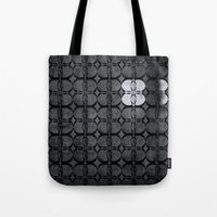 Pattern Eight Black And … Tote Bag