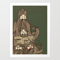 Grumpa Art Print