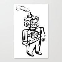 Smoke-bot Canvas Print
