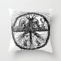 WILD PEACE Throw Pillow