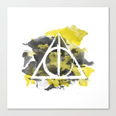 The Deathly Hallows (Hufflepuff) Canvas Print