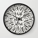 Whatever Will Be, Will Be – Black Ink Wall Clock