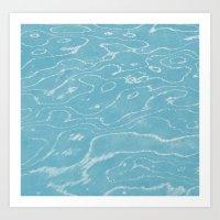 Seafoam Stone Art Print