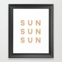 Sun Sun Sun Framed Art Print