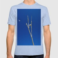 Soaring High In Blue Ski… Mens Fitted Tee Athletic Blue SMALL