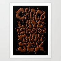 Chocolate is better than SEX Art Print
