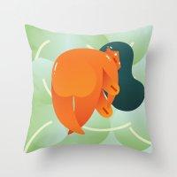 Mango Bajito Throw Pillow
