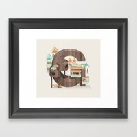 Resort Type - Letter G Framed Art Print