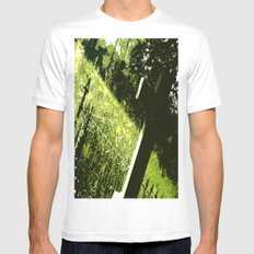 Deep Thoughts White SMALL Mens Fitted Tee
