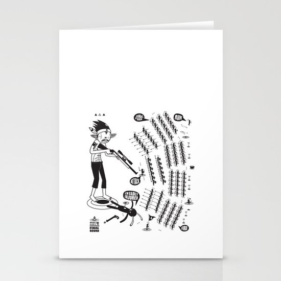 SORRY I MUST RUN - ULTIMATE WEAPON ARROW [FINAL ROUND] Stationery Card