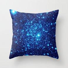 Vivid Blue gALaxY  Throw Pillow