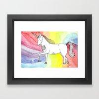 Unicorn Of Love Framed Art Print