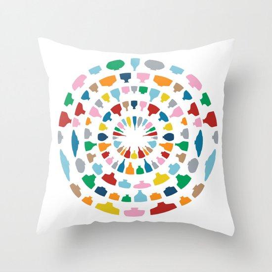 Wine o'Clock on White Throw Pillow