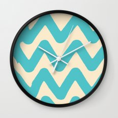 Sunset Breaks Wall Clock