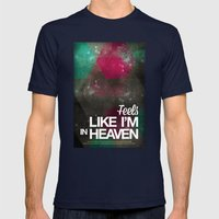 Feels like I'm in heaven Mens Fitted Tee Navy SMALL