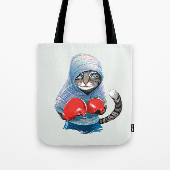 Boxing Cat Tote Bag