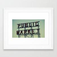 public market... Framed Art Print