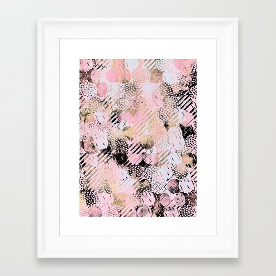 PatternMix01 Framed Art Print