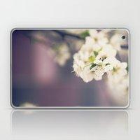White Floret Laptop & iPad Skin