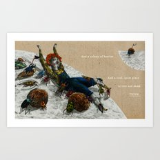 A colony of beetles Art Print