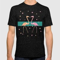 FLAmINGOs Mens Fitted Tee Tri-Black SMALL