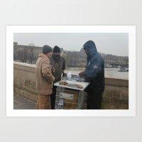 Christmas In Paris Art Print