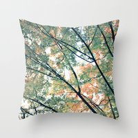 Paint Me Autumn Throw Pillow