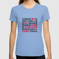 I Love This City Typogra… Womens Fitted Tee Tri-Blue SMALL