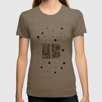 Letter B Womens Fitted Tee Tri-Coffee SMALL