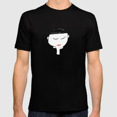 Mellow Girl Black SMALL Mens Fitted Tee