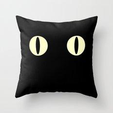 Cat Eyes (Black Cat) Throw Pillow