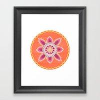 Suzani inspired floral 1 Framed Art Print