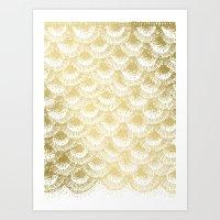 Organic Burst Gold Art Print