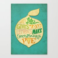 Lemon Meringue Pie Canvas Print
