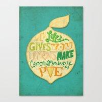 Lemon Meringue Pie Canvas Print