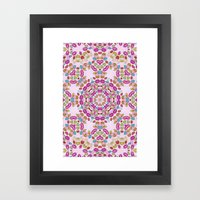 Love and Kisses Mandala Framed Art Print