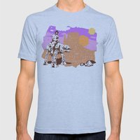 Walker Tejas Ranger Mens Fitted Tee Athletic Blue SMALL