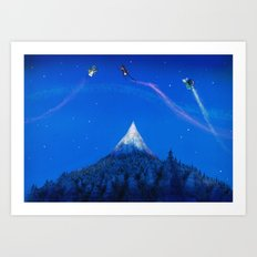Mountain battle  Art Print