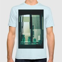 Window Cubism. Mens Fitted Tee Light Blue SMALL
