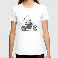 Guerilla Biker Womens Fitted Tee White SMALL