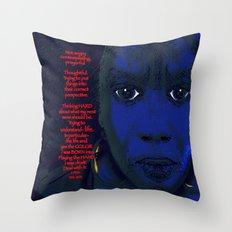 Angry Black Woman Throw Pillow