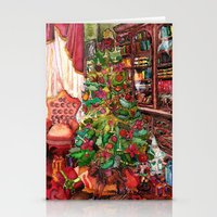Bibliophile's Christmas Stationery Cards