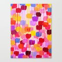 DOTTY in Pink - October Special Revisited Bold Colorful Square Polka Dots Original Abstract Painting Canvas Print