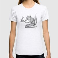 'Offering' (Simplified) Womens Fitted Tee Ash Grey SMALL
