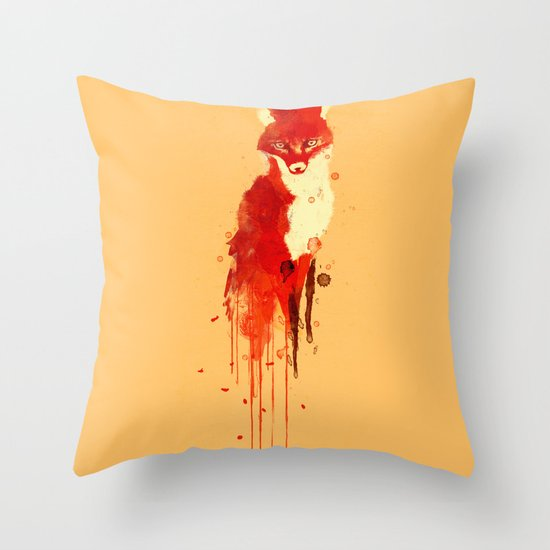 The fox, the forest spirit Throw Pillow