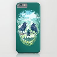 iPhone & iPod Case featuring Nature's Skull (Green) by Rachel Caldwell