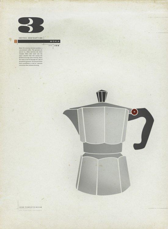 Coffee Contraption #3: Moka Art Print