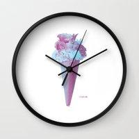 Flowers Flavor II Wall Clock