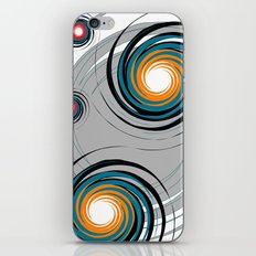 Spinning worlds iPhone & iPod Skin