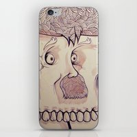 In Your Face Mr. Moustache iPhone & iPod Skin